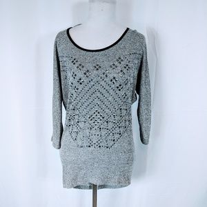 Charlotte Russe Gray Studded Tunic Top